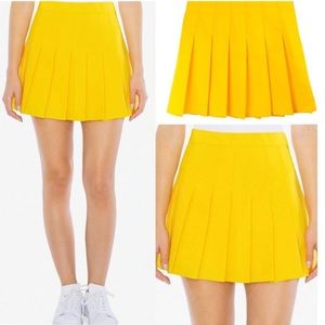 American Apparel Jeans Yellow tennis skirt